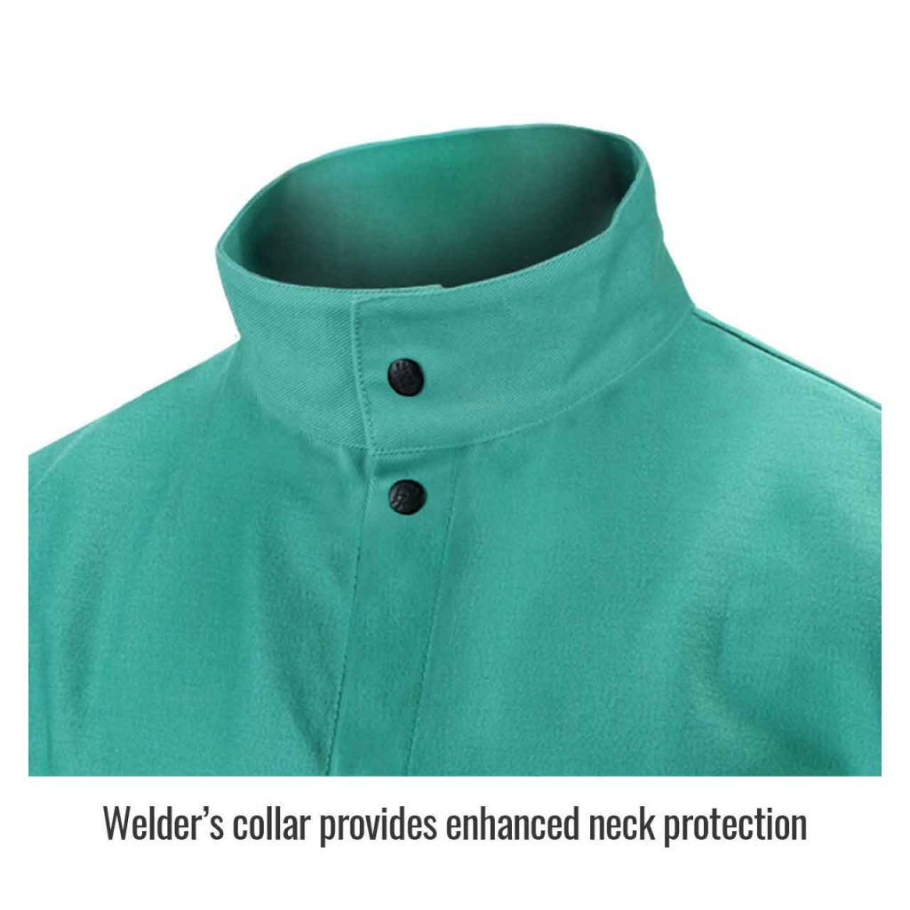 Collar in welding jacket