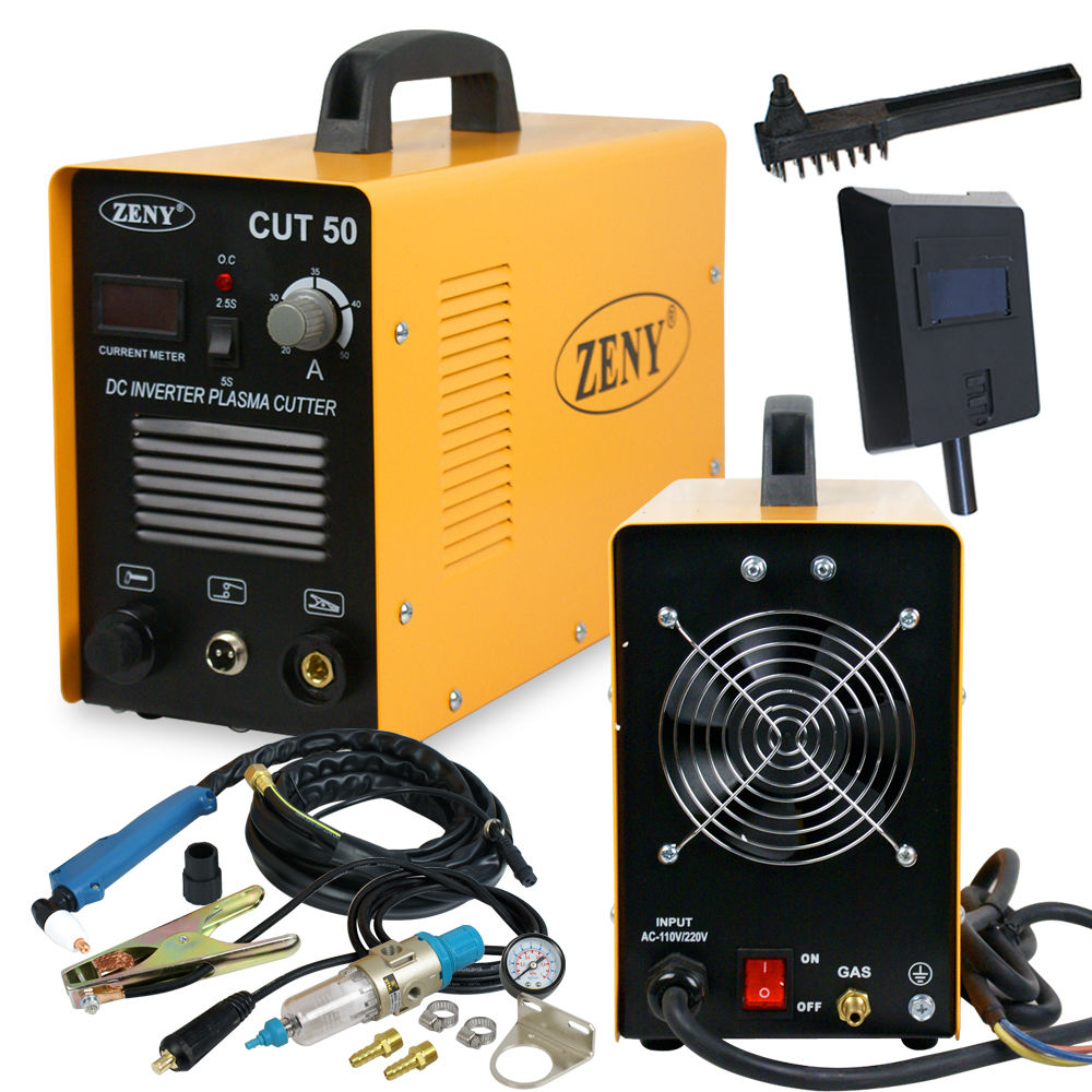 Plasma cutter with its consumables