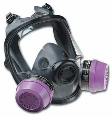 Full-facepiece respirators with filters