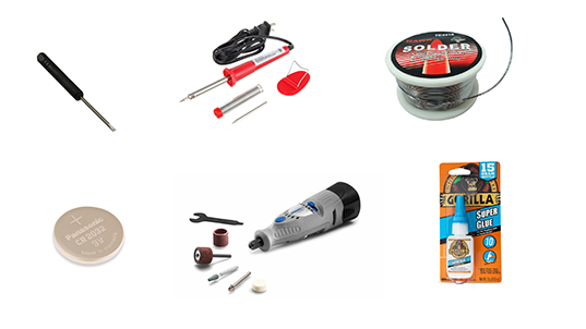 Tools needed for battery replacement